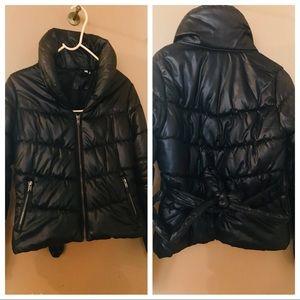 H&M High Collared Short Puffer Jacket